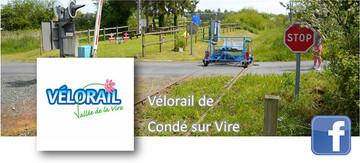 page facebook Vélorail Condé sur vire