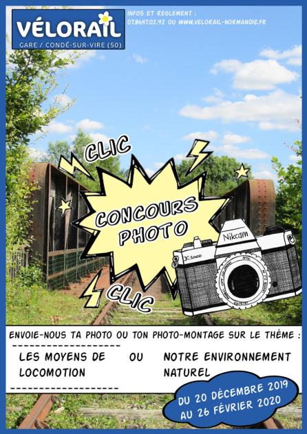 Affiche concours photo velorail 2016 Condé sur vire